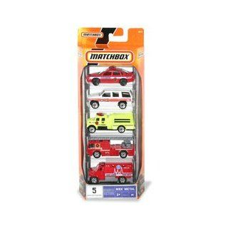 Matchbox Vehicle 5 PackFire Chief Toys & Games