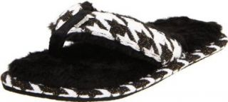 Reef Women's Snowbird Slipper,Black/White,4/5 M US Shoes