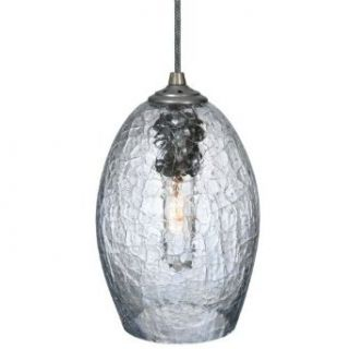 "Meyda Lighting 118390 6""W Metro Crackle Orb Mouth Blown Pendant   Ceiling Pendant Fixtures"