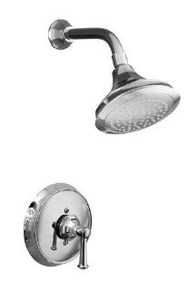 KOHLER K T465 4C CP Memoirs Rite Temp Pressure Balancing Shower Faucet Trim with Classic Design, Polished Chrome   Bathtub And Showerhead Faucet Systems