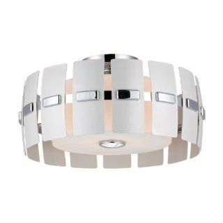 DVI DVP5211CH WPM 2 Light Luna Semi Flush Ceiling Light, Chrome   Semi Flush Mount Ceiling Light Fixtures