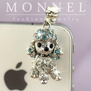 Ip483 Cute Poodle Dog Dust Proof Phone Plug Cover Charm for Iphone Smart Phone Cell Phones & Accessories