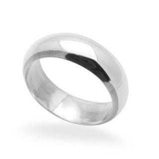 6MM Sterling Silver Wedding Band For Men & Women Classic Domed Band Ring (4 to 13.5) Men S Wedding Bands Jewelry