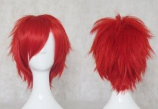 A1 MAX   Anime Costume Party Cosplay Short Curly Wig Red Clothing