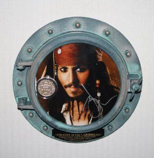 JOHNNY DEPP Signed Autograph Porthole, PIRATES OF CARIBBEAN, Disney Prop COIN, DVD, UACC, COA, Disney Hoodie Johnny Depp Entertainment Collectibles
