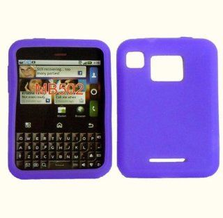 Dark Purple Silicone Jelly Skin Case Cover for Motorola Charm MB502 Cell Phones & Accessories