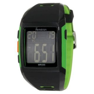 Mens Armitron Digital Sport Watch   Black/Green
