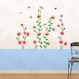 Flowers Circle   Wall Decals Stickers Appliques Home Decor