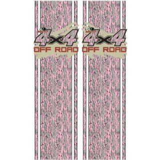 Mossy Oak Graphics 12002 BLP Bottomland Pink Rear Quarter Panel Graphics Kit with Mud Splash 4x4 Off Road Decal Automotive