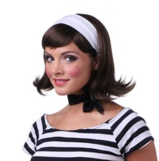 Brown Womens 50's Flip Housewife Halloween Costume Wig Clothing