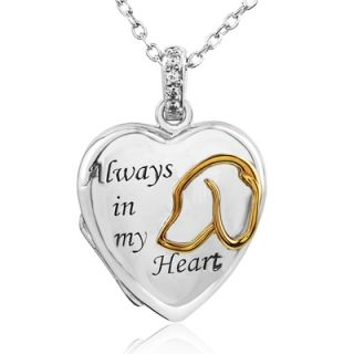 ASPCA® Tender Voices™ Diamond Accent Dog Memorial Heart Locket in