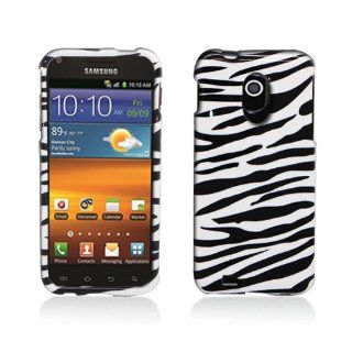 Black White Zebra Stripe Hard Cover Case for Samsung Galaxy S2 S II Sprint Boost Virgin SPH D710 Epic Touch 4G Cell Phones & Accessories