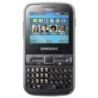 Samsung Chat C322 GSM Unlocked Dual SIM Phone with QWERTY Keyboard, 1.3 MP Camera and  Player   Black   US Warranty Cell Phones & Accessories