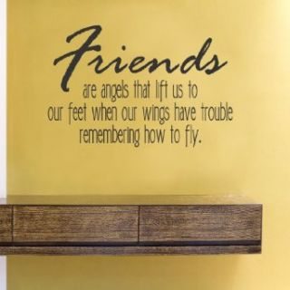 Friends are angels that lift us to our feet when our wings have trouble remembering how to fly vinyl Wall Decals Quotes Sayings Words Art Decor Lettering vinyl wall art inspirational uplifting Clothing