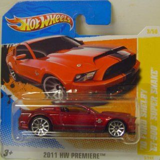 Hot Wheels 2010 Ford Shelby GT 500 Super Snake In Burgundy Toys & Games
