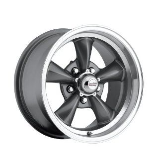 "15 inch 15x8"" 100 S Classic Series Charcoal Gray aluminum wheels rims licensed from American Racing 5x4.75"" Chevy lug pattern 0 offset 4.50"" backspacing (set of four wheels) Automotive"