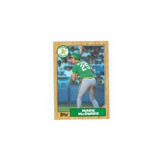 Autograph Warehouse 29550 Mark Mcgwire 1987 Topps Baseball Card No.  366 Oakland Athletics   Mint Condition Unsigned