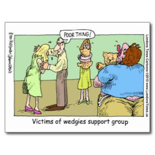 Wedgie Support Group Funny Mugs Tees & Gifts Post Card