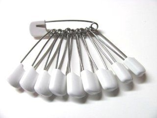 Cloth Diaper Pins Stainless Steel Traditional Safety Pin (White)  Baby Diaper Pins  Baby