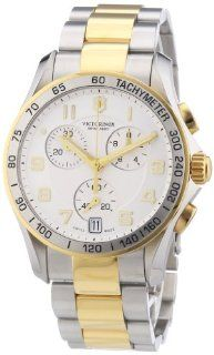 Victorinox Swiss Army Men's 241509 Chrono Classic Two Tone Chronograph Dial Watch at  Men's Watch store.