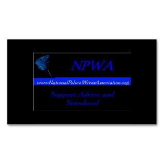 National Police Wives Association Referral Cards Business Card Templates