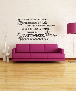 Stickerbrand Vinyl Wall Decal Sticker Friend Quote OS_DC530s   Wall Decor Stickers