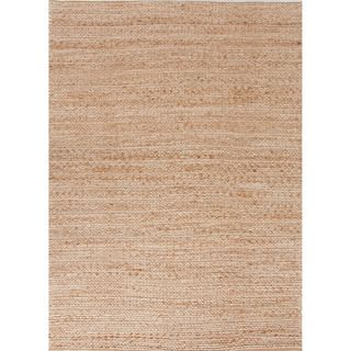 Handmade Naturals Solid Pattern Brown Rug (5 X 8)