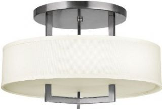 Hinkley Lighting 3201AN Three Light Down Lighting Semi Flush Ceiling Fixture from the Hampton Collection, Antique Nickel   Semi Flush Mount Ceiling Light Fixtures