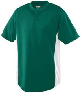 Augusta Sportswear 539 Youth Wicking Color Block Two Button Jersey Clothing