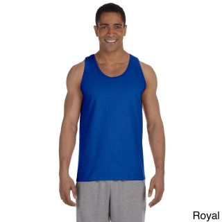 Gildan Mens Ultra Cotton Tank Top Blue Size XXL