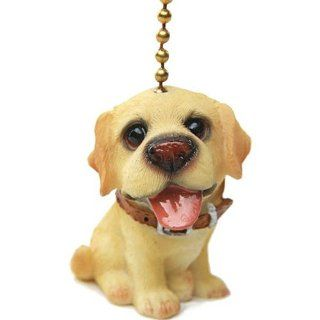 Yellow Labrador Lab Puppy Dog Ceiling Fan Pull Pulls Set of 2   Ceiling Fan Pull Chain Ornaments