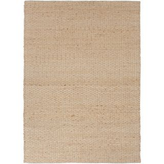 Handmade Naturals Solid pattern Textured Brown Rug (26 X 4)