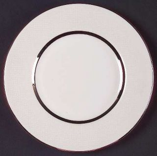 Royal Doulton Platinum Silk Salad Plate, Fine China Dinnerware   Pearlescent Rim