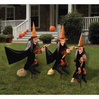 3 Halloween Lawn Scary Witches Props Decoration Outdoor