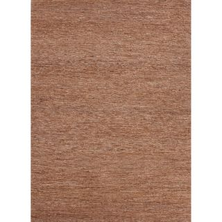 Handwoven Naturals Solid pattern Brown Area Rug (8 X 10)