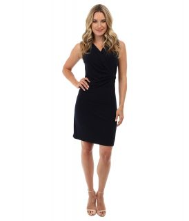 Jones New York Sleeveless Dress Womens Dress (Navy)