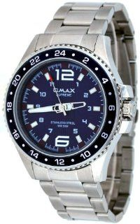 Omax Supreme #HS565 Men's Stainless Steel Blue Dial 50M Pro Dive Style Sports Watch Watches