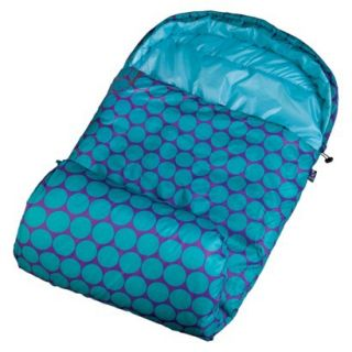 Wildkin Big Dot Stay Warm Sleeping Bag   Aqua