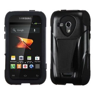 MYBAT ASAMM830HPCSAAS101NP Advanced Armor Rugged Durable Hybrid Case with Kickstand for Samsung Galaxy Rush M830   1 Pack   Retail Packaging   Black Cell Phones & Accessories