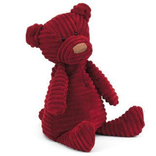 "Jellycat Small Cordy Roy Plush Stuffed Animal Baby Doll Figure Toy Red Bear 10"" Toys & Games"