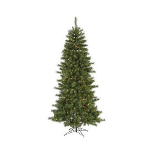 Vickerman Co. 7 Green Newport Mix Pine Artificial Christmas Tree with 350 Clear Mini Lights with Stand Christmas Decor