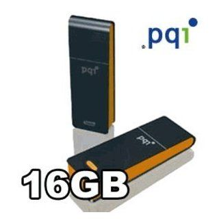 PQI i221 16GB USB Flash Drive Black/Orange   Retail Package Computers & Accessories