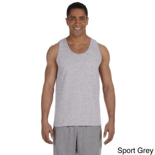 Gildan Mens Ultra Cotton Tank Top Grey Size XXL