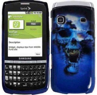For Sprint Samsung Replenish M580 Accessory   Blue Skull Designer Hard Case Proctor Cover Cell Phones & Accessories