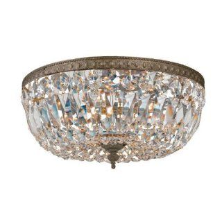 By Crystorama Lighting Cortland Collection English Bronze Finish 3 Lights Semi Flush Mount   Close To Ceiling Light Fixtures