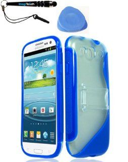 IMAGITOUCH(TM) 3 Item Combo Samsung Galaxy S 3 Prozkin w Stand Blue PC TPU Case Cover Phone Protector (Stylus pen, Pry Tool, Phone Cover) Cell Phones & Accessories
