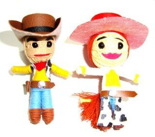 Cowboy Woody & Cowgirl Jessie Pair of Toy Story Voodoo String Doll Keyring