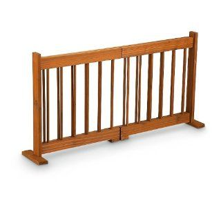 Expandable Wooden Pet Gate  Indoor Safety Gates  Baby