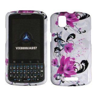 Purple Lily Hard Case Cover for Motorola Milestone Plus XT609 Cell Phones & Accessories
