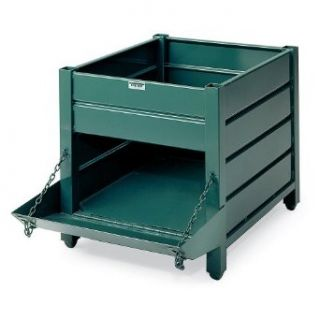 STEEL KING WorkingTainer Corrugated Steel Containers   Vista green